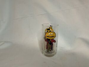 """RARE """"Mayor McCheese"""" McDonald's Glass VINTAGE COLLECTIBLE Never Used!"""