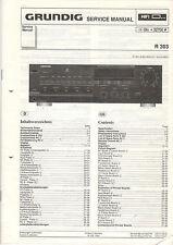 Grundig Service Anleitung Manual R 303  B791