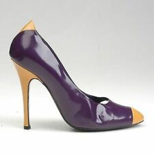 39 Vintage 1990s 90s Marc Jacobs Two Toned Stiletto Patent Leather High Heels