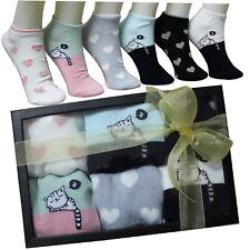 Calcetines Mujer Corazones Gatos Caja Regalo Ideas Box Moda Chica Cumpleaños 10
