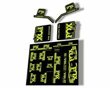 Fox Heritage 2017 Forks Suspension & Shocks Decal Sticker Adhesiv Kit Lime Green
