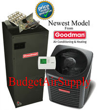 1.5 ton 14 SEER HEAT PUMP 410a Goodman System GSZ140181+ARUF25B14 New Model!