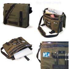 Laptop Canvas Messenger Bag 17.3 Inch Sholder Computer Eco-Friendly Backpack NEW
