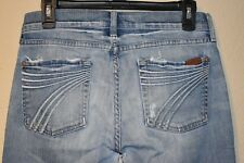 190$ WOMEN 7 FOR ALL MANKIND DOJO FLARE BOOTCUT STRETCH SIZE 28 ACTUAL 29X31 USA