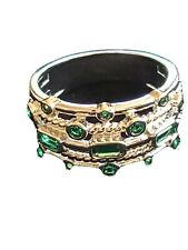 18K White Gold Plated 5 Layer Green Emerald Ring by Peermont Size 6 or 10
