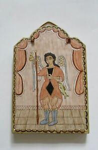 Christina Valdez New Mexico Folk Art Retablo Arcangel San Rafael 2006