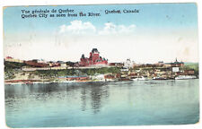 Quebec City Quebec Canada as seen from river posted 1930