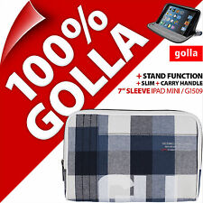 New Golla Tablet Sleeve Bag Plaid Padded Carry Case + Stand for iPad Mini 1 2 3