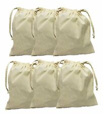 Organic Cotton Muslin Produce Bags w/Drawstring for Grocery Shopping (Set of 6)