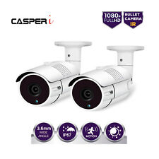 2X Full HD 1080P 3000TVL AHD CCTV Outdoor Security DVR Camera Night Vision WHITE