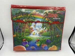VINTAGE TRAPPER KEEPER NOTEBOOK PALM TREES HEARTS WATER FALL RED