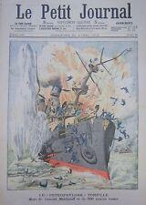 Russland Explosion Schiff Petropavlovsk Admiral Makharoff Gravur Petit Zeitung