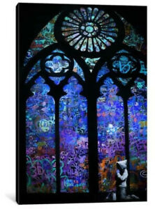 """Canvas Print 'Stained Glass Window II' By Banksy 26x18x1"""""""