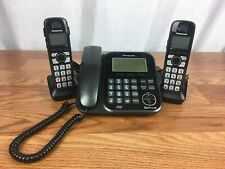 Panasonic KX-TG4771 DECT 6.0 Answer System Corded and 2 Handheld Cordless Phone