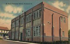 Vintage Postcard - St. Ann's Parochial School - Freeland Pa