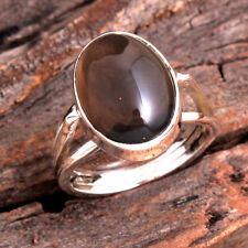 SMOKEY QUARTZ Gemstone Ring Size 8 Solid Sterling Silver HANDMADE Fine Jewelry