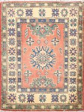 2x3 Traditional Super Kazak Wool Hand-Knotted Area Rug Classic Oriental Carpet