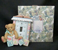 1996 Cherished Teddies Figural Light Switch Plate Cover 203661 Enesco Resin