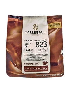Callebaut 823 Milk Chocolate Buttons Cake Decorating Ganache 400g 0.4kg