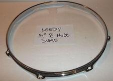 "Leedy U.S.A. Triple Flange Snare Drum Hoop Chrome 14"" 8 Hole Snare Side"