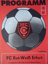 Programm 1981/82 HFC Chemie - RW Erfurt