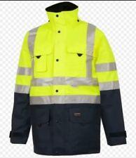 * Hi Visibility Parka Jacket Waterproof Coat Work Wear Hi Viz Contractor M 50,3