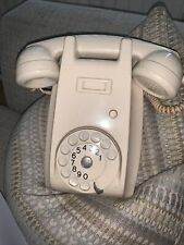 Vintage PTT Ericsson mounted Wall Phone Rotary dial with twisted cord Cream