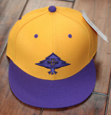 New Men's LRG Gold Purple Lakers Hat Cap Lifted Research Group L-R-G - Size 7.25
