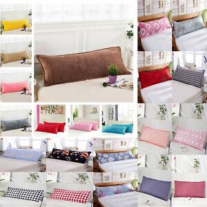 1.2/1.5M Print Velvet Long Body Pillow Cover Protector Pillowcase Home Decor UK