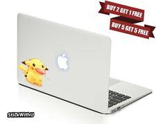 Macbook Air Pro Vinyl Skin Sticker Decal Pokemon Go Pikachu Cute Lollipop BN089