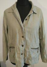 Ladies Jacket Size 16 Dash Khaki light green long sleeves zip pockets