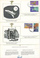 TIMBRE STAMP 3 FDC AVION HISTOIRE AVIATION FEDERATION AERONAUTIQUE NICARAGUA