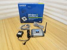 Linksys Wireless-G Print Server WPSM54G Complete In Box