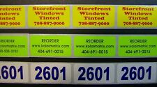 """5,000 Printed Stickers, .5"""" x 1.5"""" Custom Rectangle Business Labels, 1-Color"""