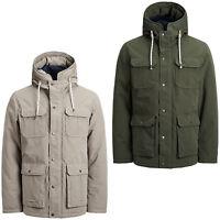 Jack & Jones Originals Jacket Polyester Hooded Winter Coat Mens Jorsteve
