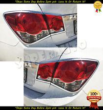 Chrome Tail Light Trim Cover For 2009-2014 Chevrolet Cruze Sedan 10 11 12 13 14
