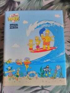 c2002 The Simpsons pickers Tazos album plus 113 of 120 pickers - missing 7