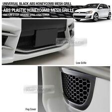 """Black Honeycomb Hexagon Mesh ABS Grille Fog Custom Kit 43""""x15"""" for AUDI Car"""