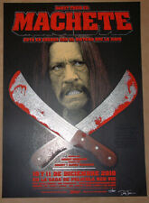 Machete Danny Trejo Dave Hunter Movie Poster Print Signed Numbered 2010