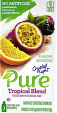 50 7-Packet Boxes Crystal Light Pure Tropical Blend On The Go Drink Mix