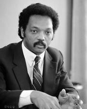 1983 Civil Rights Leader JESSE JACKSON Glossy 8x10 Photo Black History Print