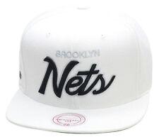 Mitchell & Ness Brooklyn Nets All WHITE/SCRIPT Snapback Hat jordan barons 9 1