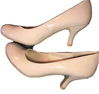 Jellypop Nude Patent Leather Wedge Heel Shoes 8.5