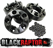 Black Raptor Hubcentric 50mm Aluminium Land Rover Defender Wheel Spacers 90 110