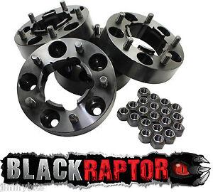 Black Raptor Hubcentric 40mm Aluminium Land Rover Defender Wheel Spacers 90 110