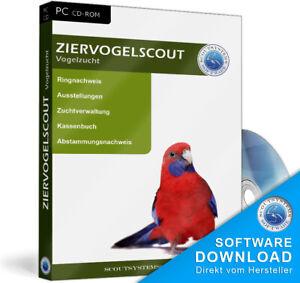 Ziervogelscout Züchter Software,Vogelzucht Programm,EDV
