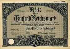 Pfälzische Hypothekenbank PHL 1929 Ludwigshafen Rhein Meiningen 1000 M Eurohypo