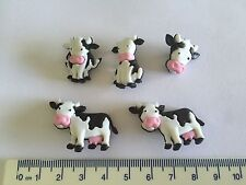 Cow black white Mooove It Novelty Buttons by Dress It Up 8977
