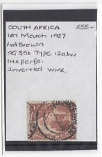 South Africa; 4d SG35b Inverted Watermark, Stated to Be Type 12abw, Unchecked