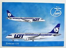 LOT Polish Airlines Embraer 170 official postcard